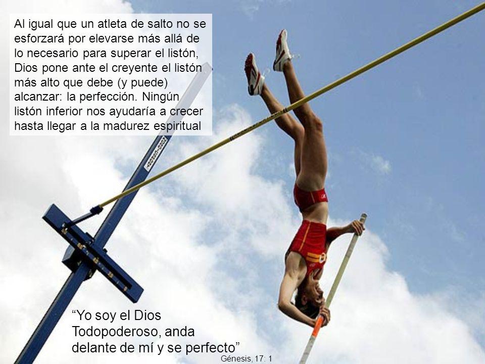 Al igual que un atleta de salto no se esforzará por elevarse más allá de lo necesario para superar el listón, Dios pone ante el creyente el listón más
