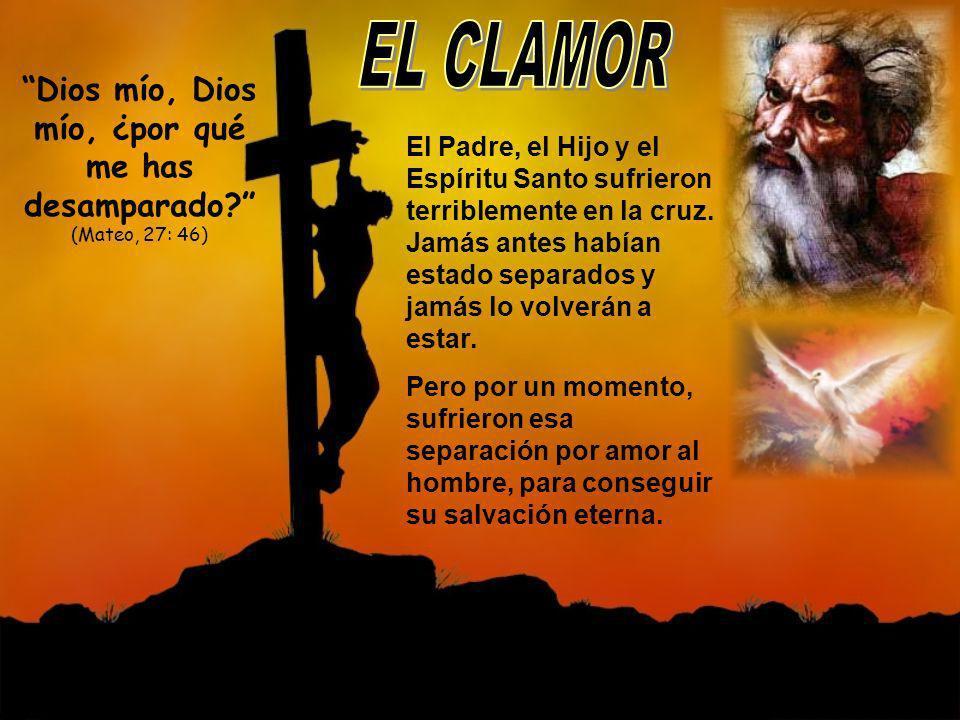 El Padre, el Hijo y el Espíritu Santo sufrieron terriblemente en la cruz. Jamás antes habían estado separados y jamás lo volverán a estar. Pero por un