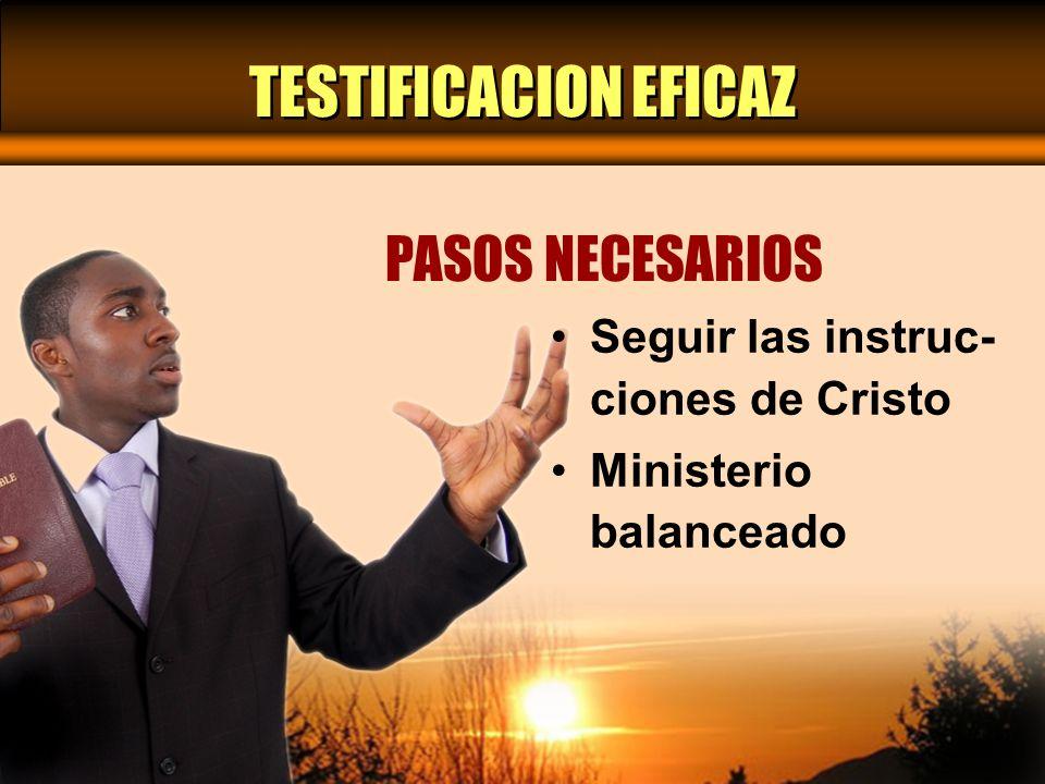 SEGUIR LAS INSTRUCCIONES DE CRISTO PASO UNO