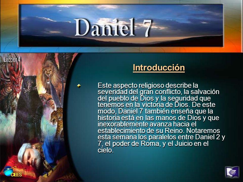 Introducción Este aspecto religioso describe la severidad del gran conflicto, la salvación del pueblo de Dios y la seguridad que tenemos en la victori