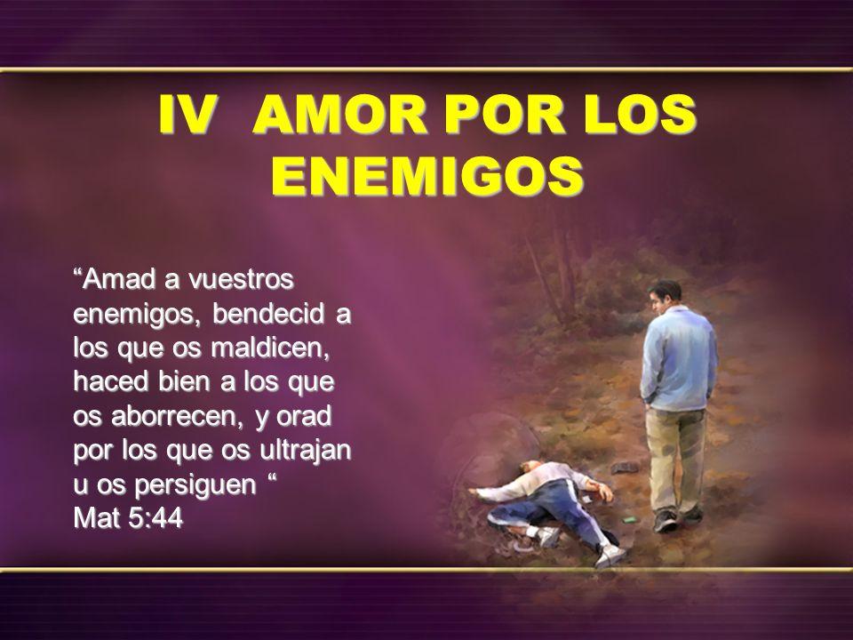 Amad a vuestros enemigos, bendecid a los que os maldicen, haced bien a los que os aborrecen, y orad por los que os ultrajan u os persiguen Amad a vues