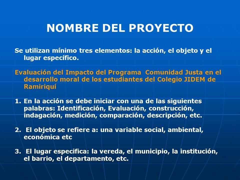 GRUPO QUE PRESENTA EL PROYECTO Es el nombre del grupo de estudiantes y docentes que tiene la iniciativa del proyecto Ej: Grupo Exploradores del grado 8A.