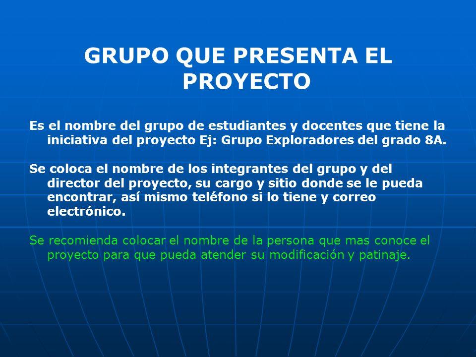 DESCRIPCION DEL PROBLEMA Describa el problema presentado que quiere solucionar con el proyecto, en forma breve, no más de 5 renglones.