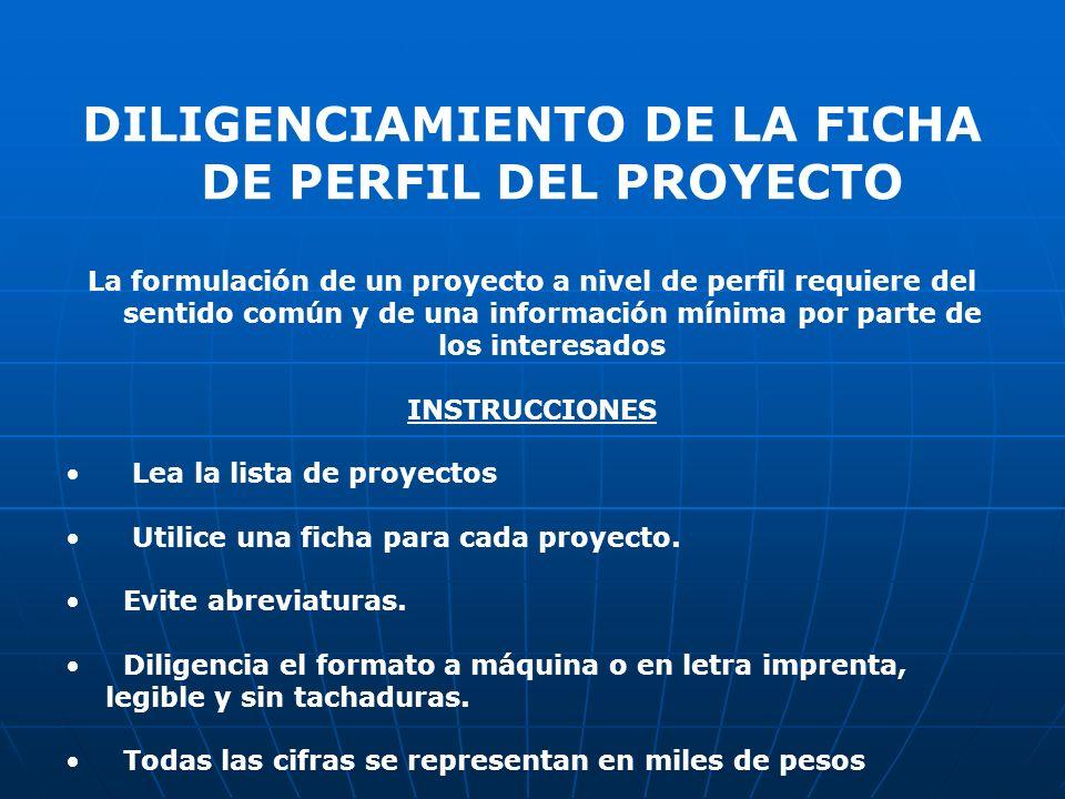 NOMBRE DEL PROYECTO Se utilizan mínimo tres elementos: la acción, el objeto y el lugar específico.