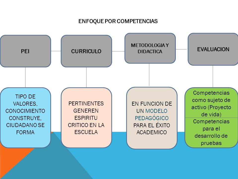 CURRICULO PEI METODOLOGIA Y DIDACTICA EVALUACION TIPO DE VALORES, CONOCIMIENTO CONSTRUYE, CIUDADANO SE FORMA PERTINENTES GENEREN ESPIRITU CRITICO EN L