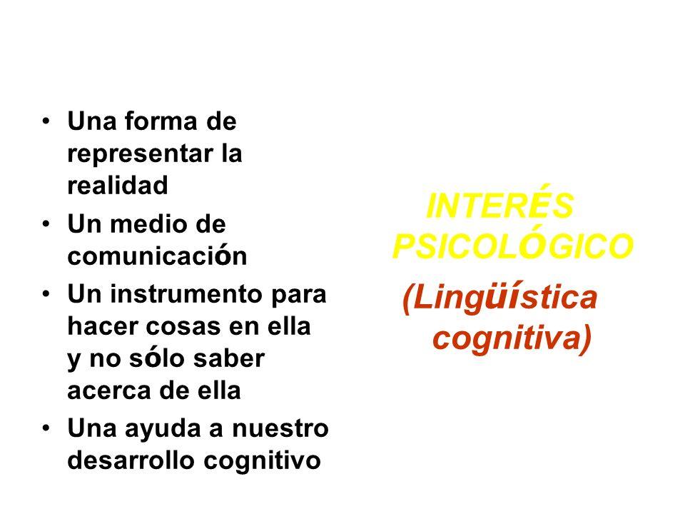 La lengua es… Una forma de representar la realidad Un medio de comunicaci ó n Un instrumento para hacer cosas en ella y no s ó lo saber acerca de ella