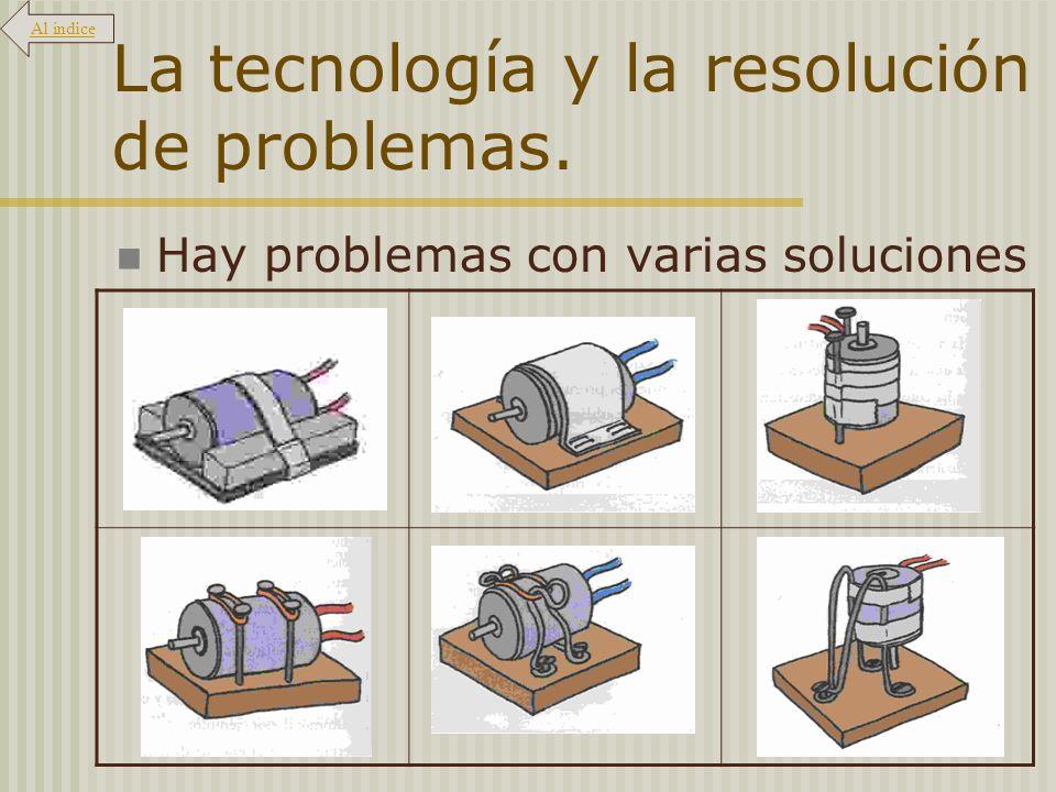 La tecnología y la resolución de problemas. Y soluciones útiles en varios problemas Al índice