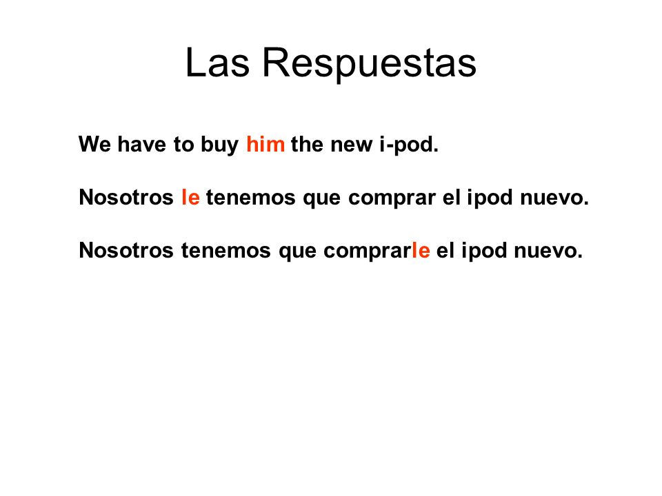 Las Respuestas The teachers want to give us a test.