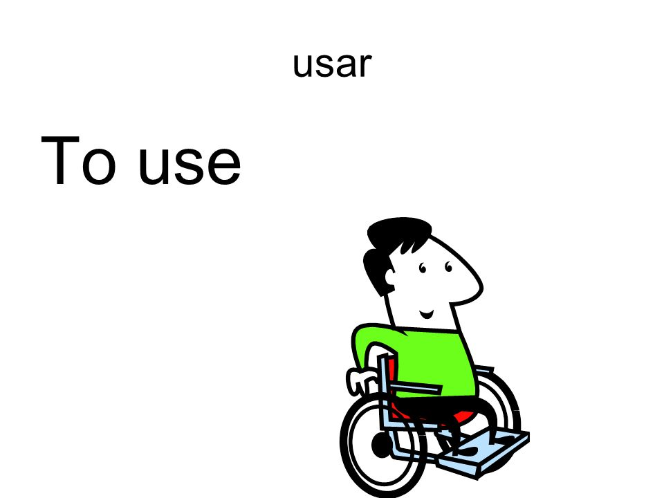 usar To use