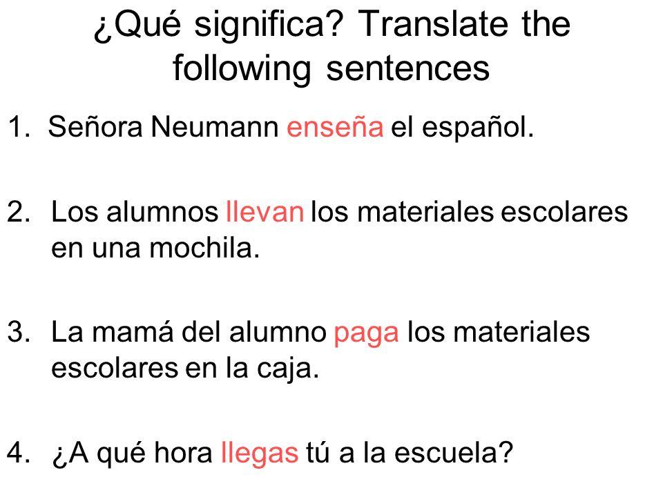 1.(Yo) hablar______________________ 2.(ella)usar_______________________ 3.(Nosotros) escuchar_______________ 4.(ustedes) estudiar_________________ 5.(Juan y María) comprar_____________ 6.(Tú) trabajar_____________________ 7.(Ellos) mirar______________________ 8.(Marcos y yo) tomar________________ 9.(El alumno) llevar___________________ 10.(Los alumnos) llegar________________ hablo usa escuchamos estudian compran trabajas miran tomamos lleva llegan
