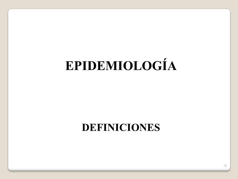 15 EPIDEMIOLOGÍA DEFINICIONES