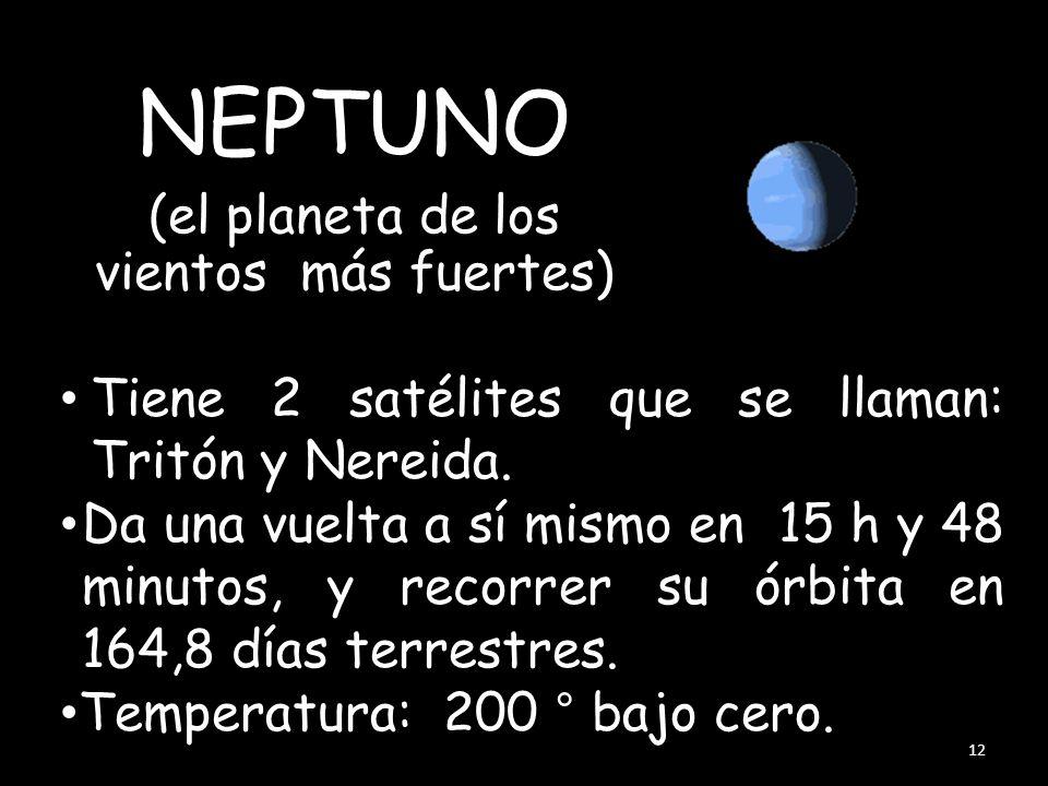 (el planeta con más satélites) Emplea 84 años en dar una vuelta al Sol; en dar una vuelta a sí mismo tarda menos de 18 horas. Se le conoce 5 satélites