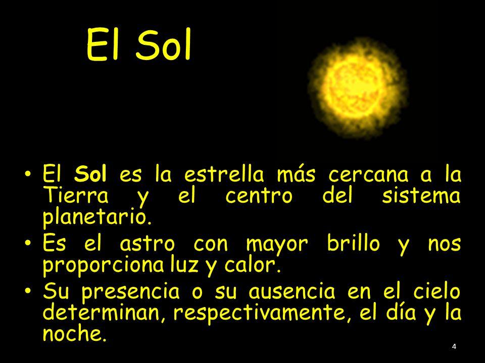 El Sol El Sol es la estrella más cercana a la Tierra y el centro del sistema planetario.