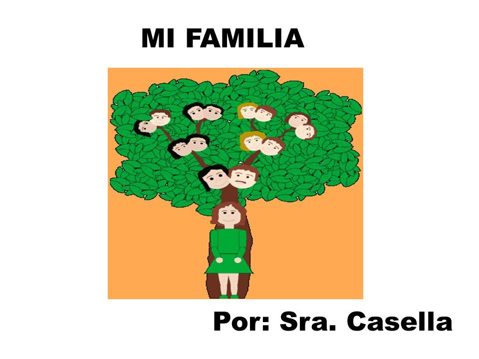 MI FAMILIA Por: Sra. Casella