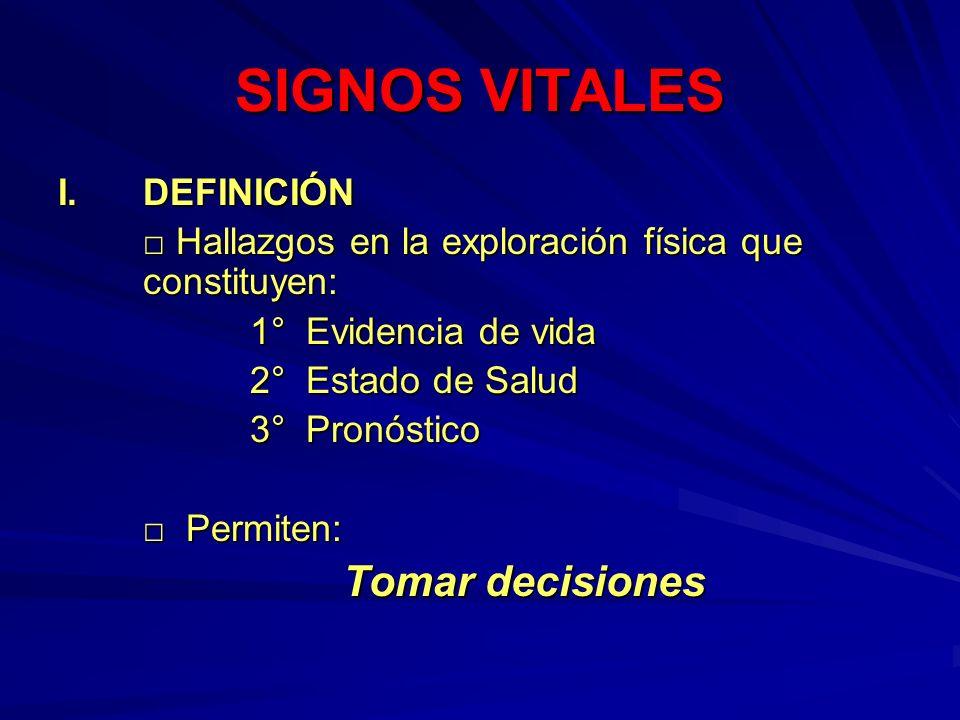 SIGNOS VITALES II.