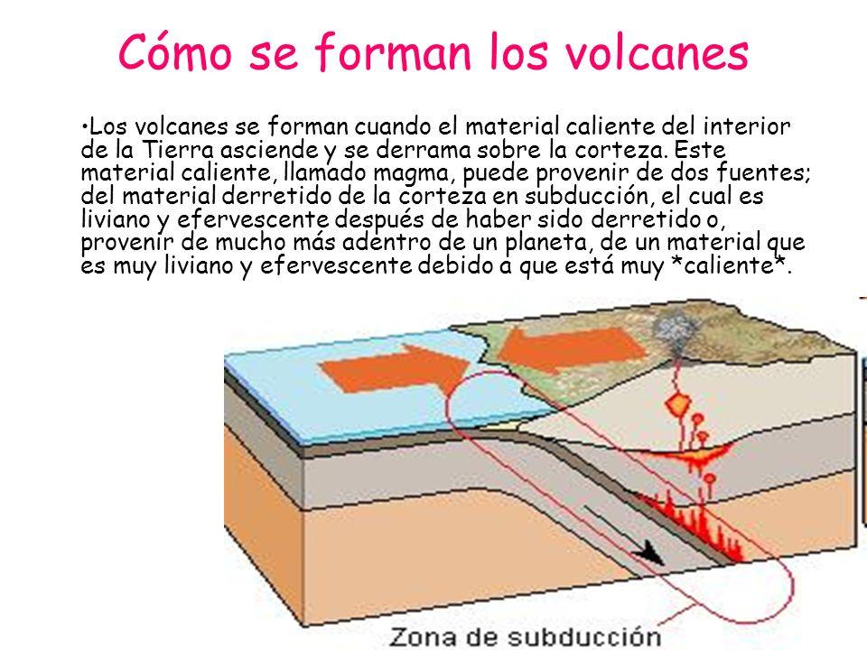 Cómo erupcionan los volcanes Cuando el magma del interior de la tierra se acumula en las cámaras magmáticas, la presión va aumentando hasta que llega a ser tan fuerte que necesita salir.