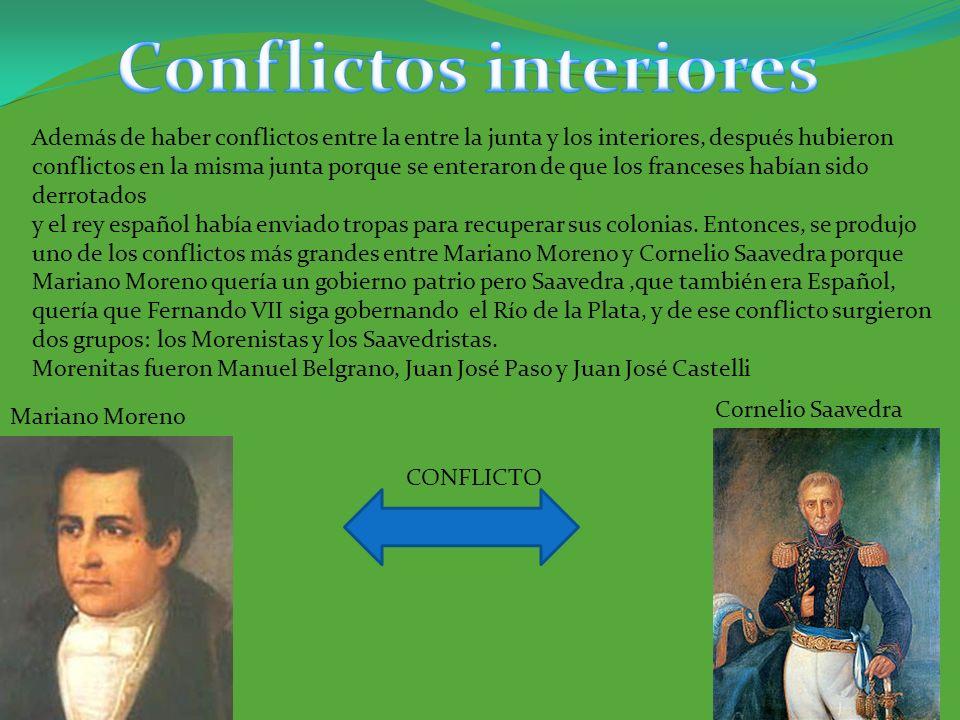 CONFLICTO Además de haber conflictos entre la entre la junta y los interiores, después hubieron conflictos en la misma junta porque se enteraron de qu