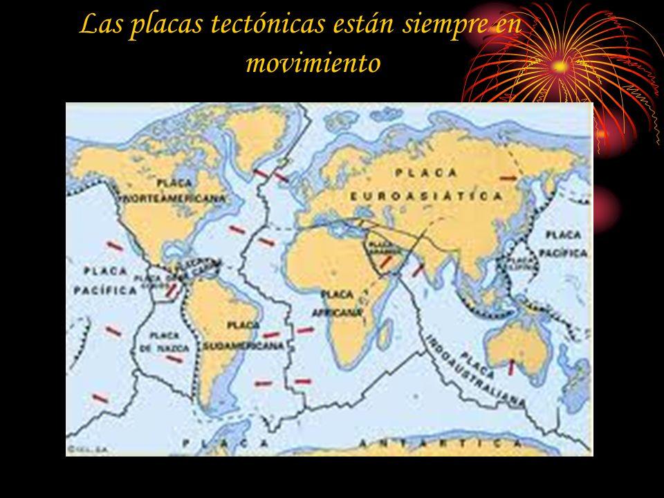 La corteza de la Tierra esta dividida en partes llamadas placas tectónicas