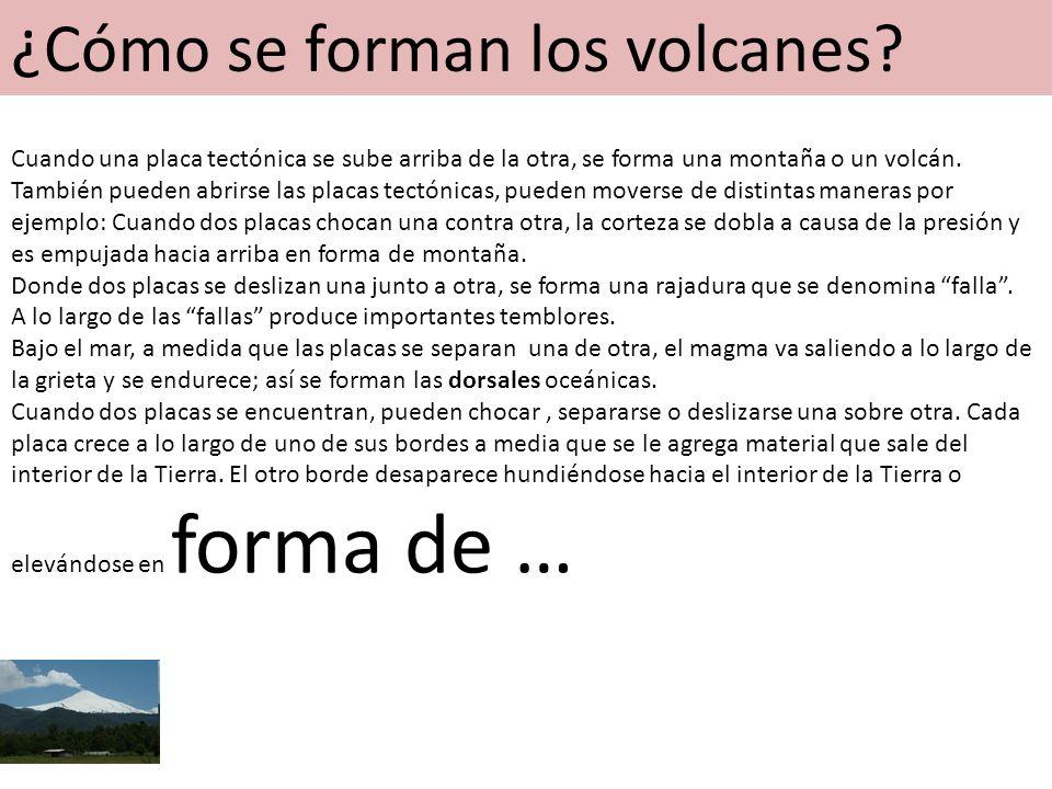 ¿Cómo se forman los volcanes.