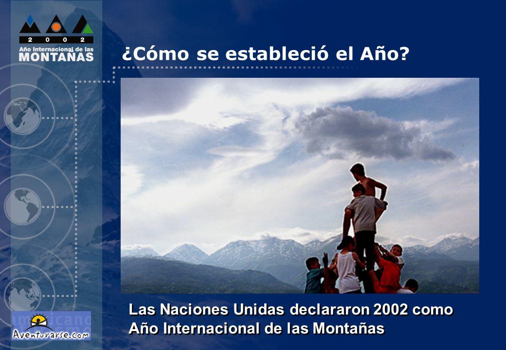 Las Naciones Unidas declararon 2002 como Año Internacional de las Montañas ¿Cómo se estableció el Año?