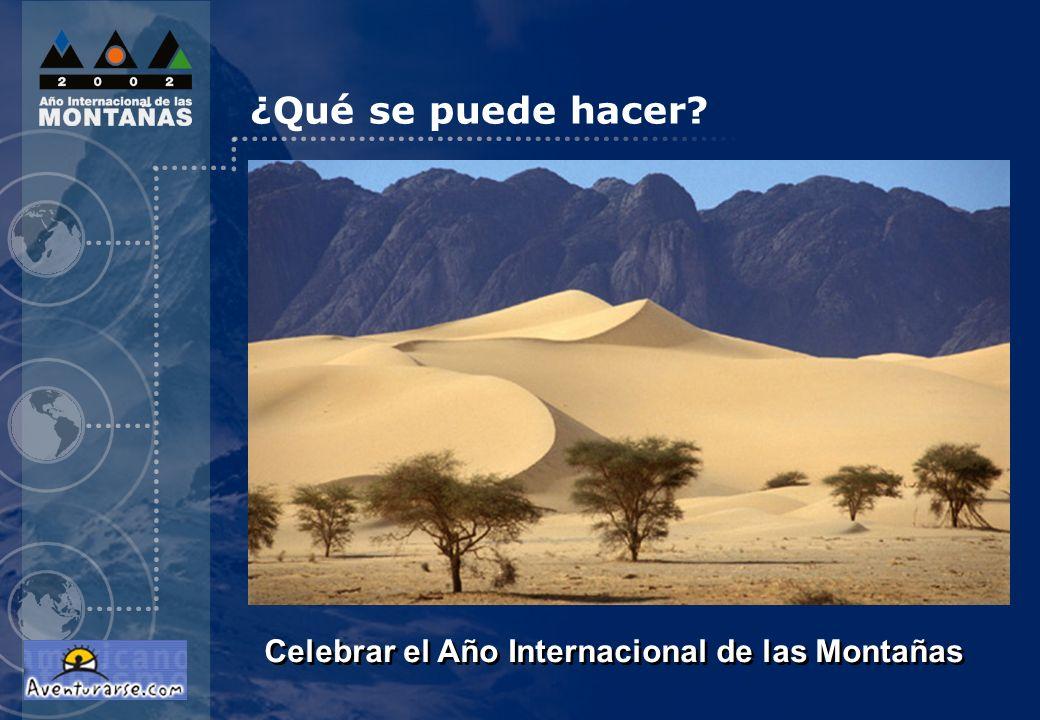 Celebrar el Año Internacional de las Montañas ¿Qué se puede hacer