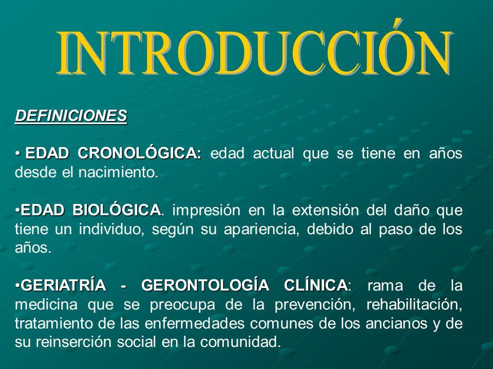 DEFINICIONES EDAD CRONOLÓGICA: EDAD CRONOLÓGICA: edad actual que se tiene en años desde el nacimiento. EDAD BIOLÓGICAEDAD BIOLÓGICA. impresión en la e