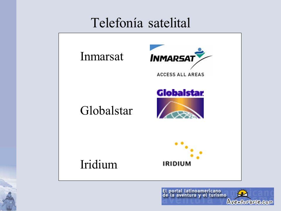 Telefonía satelital Inmarsat Globalstar Iridium
