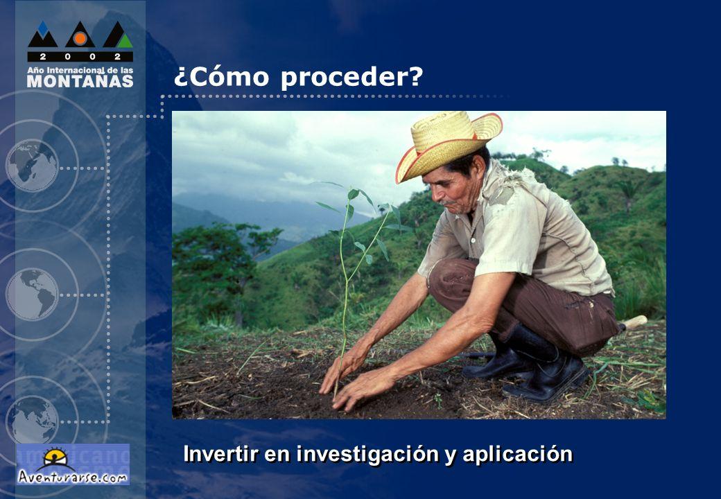 Invertir en investigación y aplicación ¿Cómo proceder?