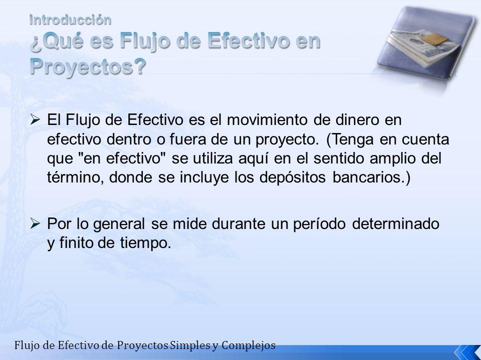 El flujo de Efectivo por ejemplo, puede ser utilizado para el cálculo de los parámetros para determinar la Tasa Interna de Retorno de un proyecto.