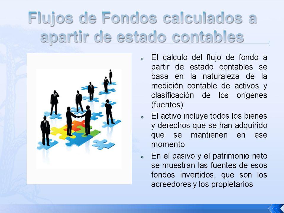 Los flujos de efectivo de una empresa, tanto el efectivo como los valores negociables.
