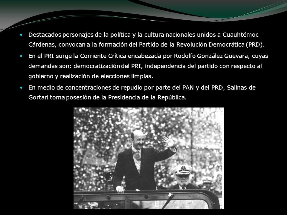 Destacados personajes de la política y la cultura nacionales unidos a Cuauhtémoc Cárdenas, convocan a la formación del Partido de la Revolución Democr