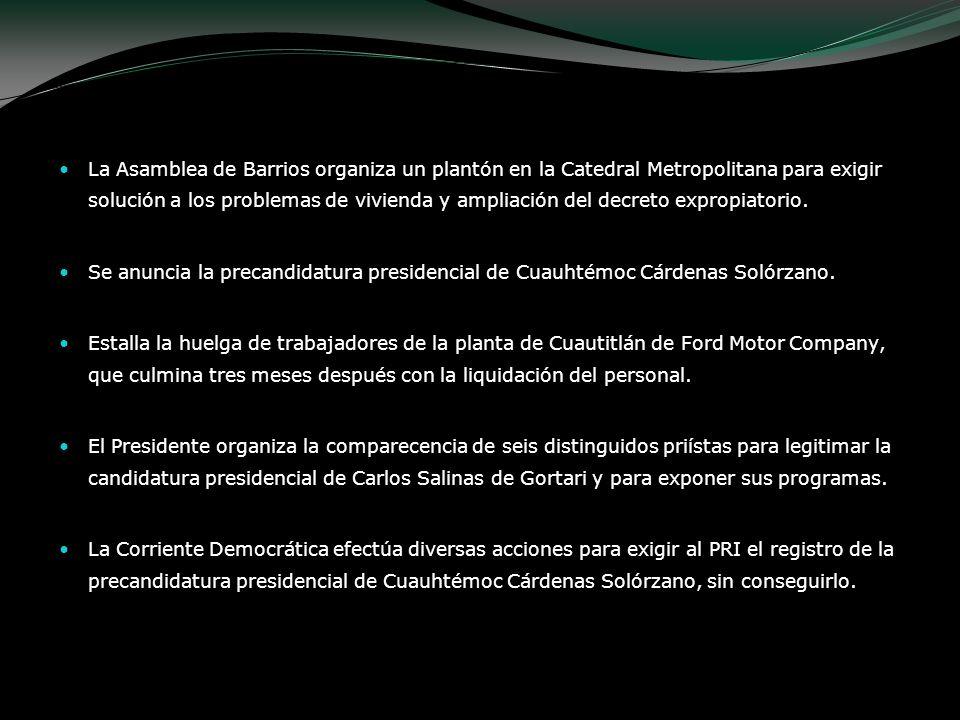 La Asamblea de Barrios organiza un plantón en la Catedral Metropolitana para exigir solución a los problemas de vivienda y ampliación del decreto expr