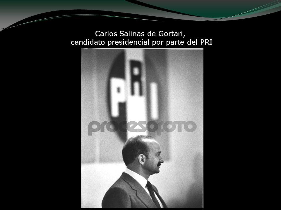 Carlos Salinas de Gortari, candidato presidencial por parte del PRI