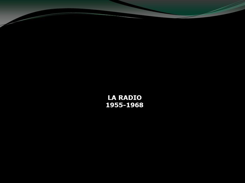 Al llegar la TV en los años 50s, la radio tuvo una considerable disminución de público.