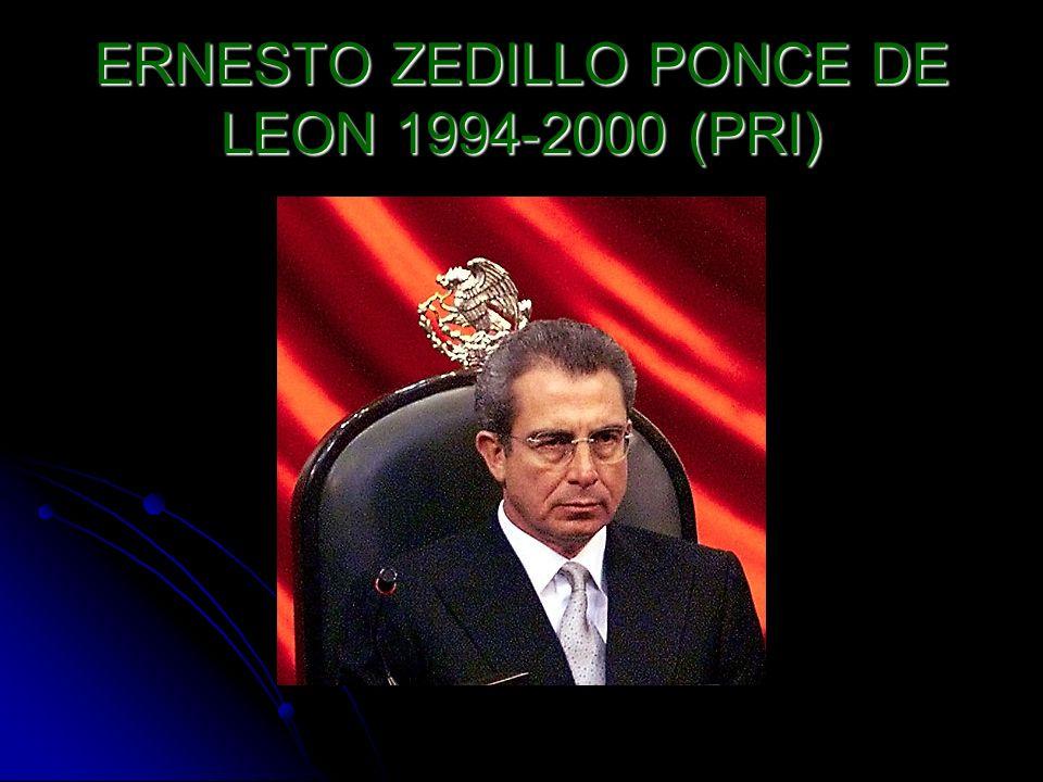 ERNESTO ZEDILLO PONCE DE LEON 1994-2000 (PRI)
