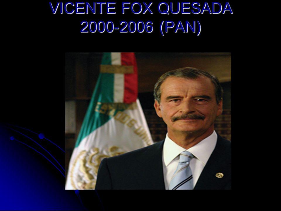 VICENTE FOX QUESADA 2000-2006 (PAN)