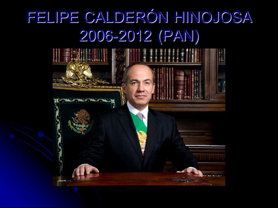2006 López Obrador se declara presidente legitimo.