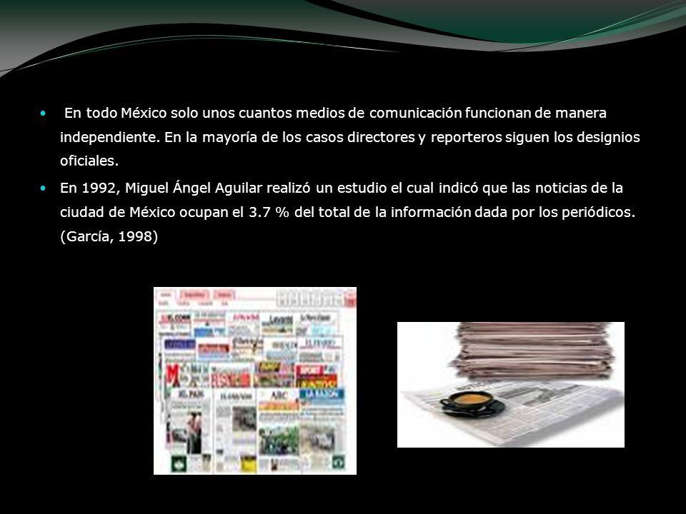 En todo México solo unos cuantos medios de comunicación funcionan de manera independiente. En la mayoría de los casos directores y reporteros siguen l