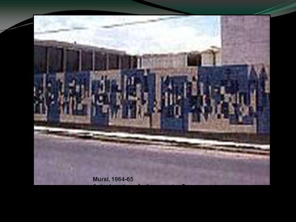 Mural, 1964-65 Actualmente en Av. Insurgentes Sur (Ciudad Universitaria) Foto: Carlos Mérida