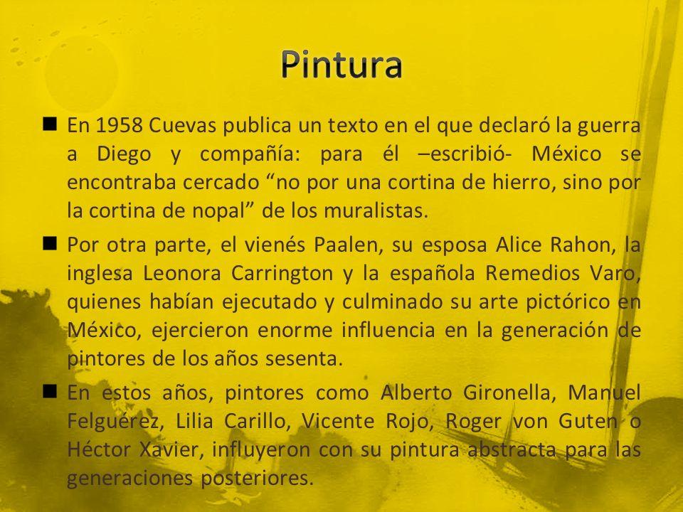 En 1958 Cuevas publica un texto en el que declaró la guerra a Diego y compañía: para él –escribió- México se encontraba cercado no por una cortina de