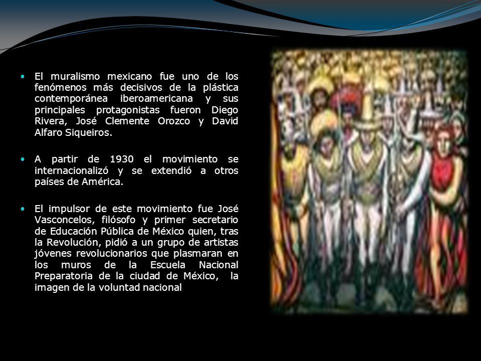El muralismo mexicano fue uno de los fenómenos más decisivos de la plástica contemporánea iberoamericana y sus principales protagonistas fueron Diego
