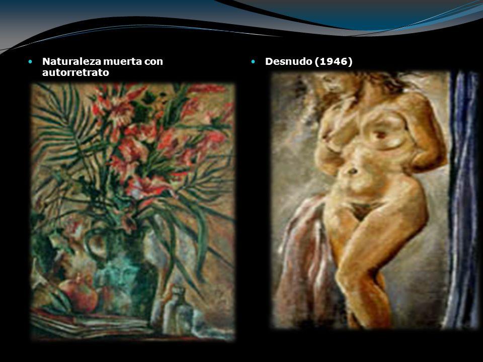 Naturaleza muerta con autorretrato Desnudo (1946)