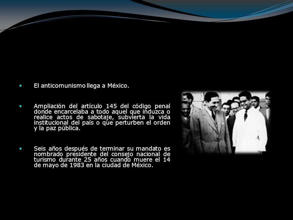 Adolfo Ruiz Cortines (1952 - 1958) Durante su campaña presidencial insistió en que la nota invariable de su futuro gobierno sería la honradez, la decencia y la moral, ya como gobernante su lema de gobierno fue austeridad y trabajo.