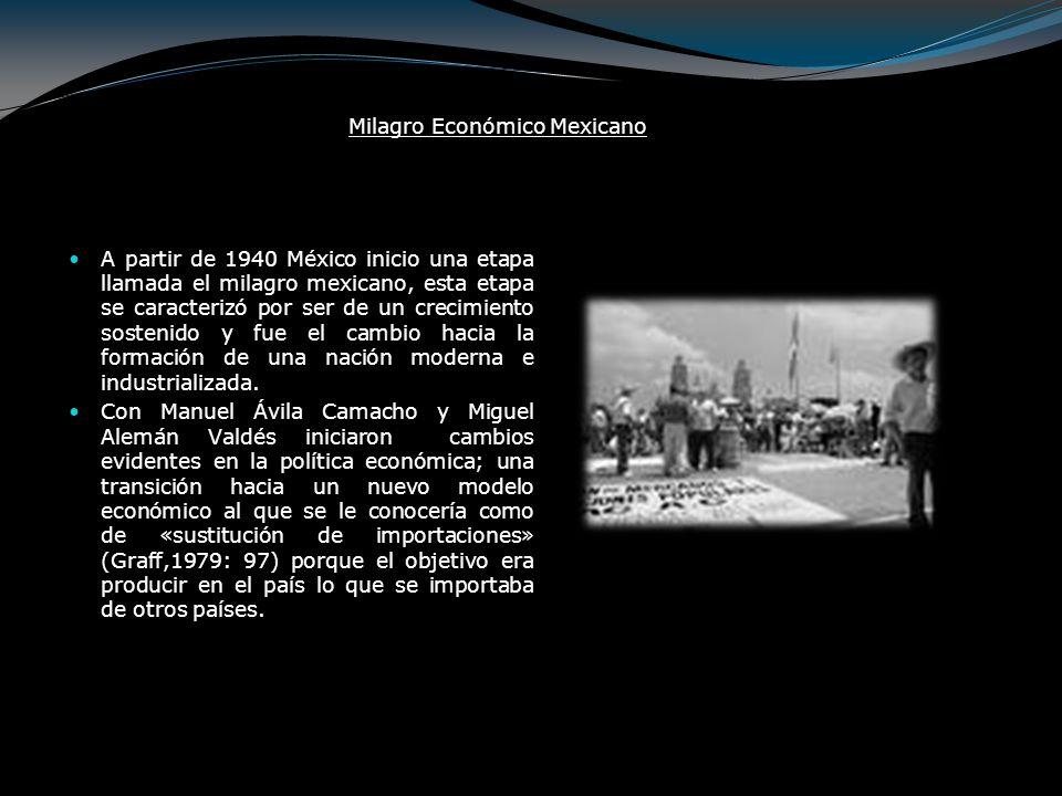 La segunda guerra mundial dio un gran estímulo al crecimiento de la economía mexicana.