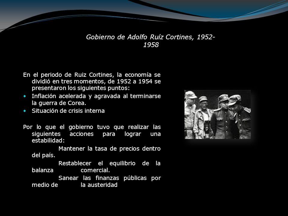 Sin embargo, las mediadas no fueron las necesarias o las adecuadas, ya que en abril de 1954 se decretó la devaluación del peso mexicano, cuya equivalencia pasó de 8.65 a 12.50.