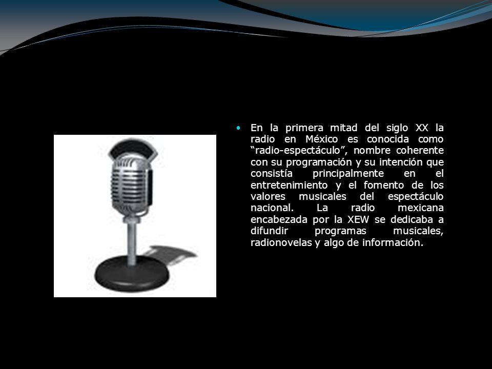Desde el inicio de sus transmisiones, el 18 de septiembre de 1930, XEW, La Voz de la América Latina desde México, marca una nueva etapa en la industria radiofónica por su programación, alcance y potencia.
