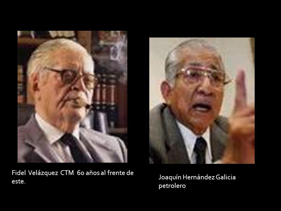Fidel Velázquez CTM 60 años al frente de este. Joaquín Hernández Galicia petrolero