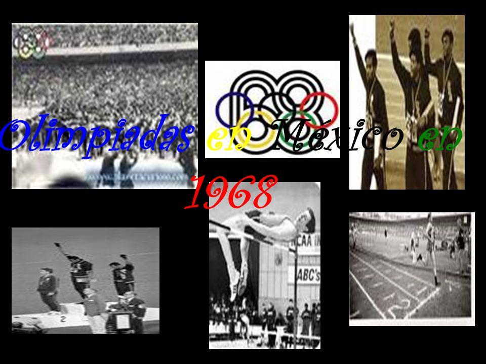 Olimpiadas en México en 1968