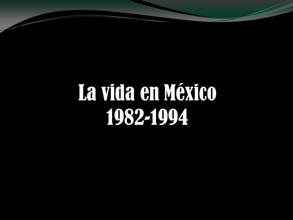 AñoPIBManufacturaAgricultura 1970100.0 1982206.4189.9145.8 1982100.0 1994119.2126.9109.7 1970-19826.2%5.5%3.2% 1982-19941.5%2.0%0.8% Producto Interno Bruto, 1970-1994