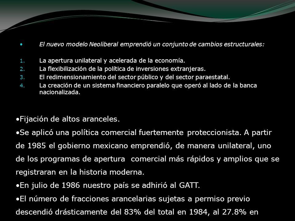 Plan Nacional de Desarrollo (1989); en especial en la política económica del gobierno: La defensa de la soberanía y la promoción de los intereses de México en el mundo.